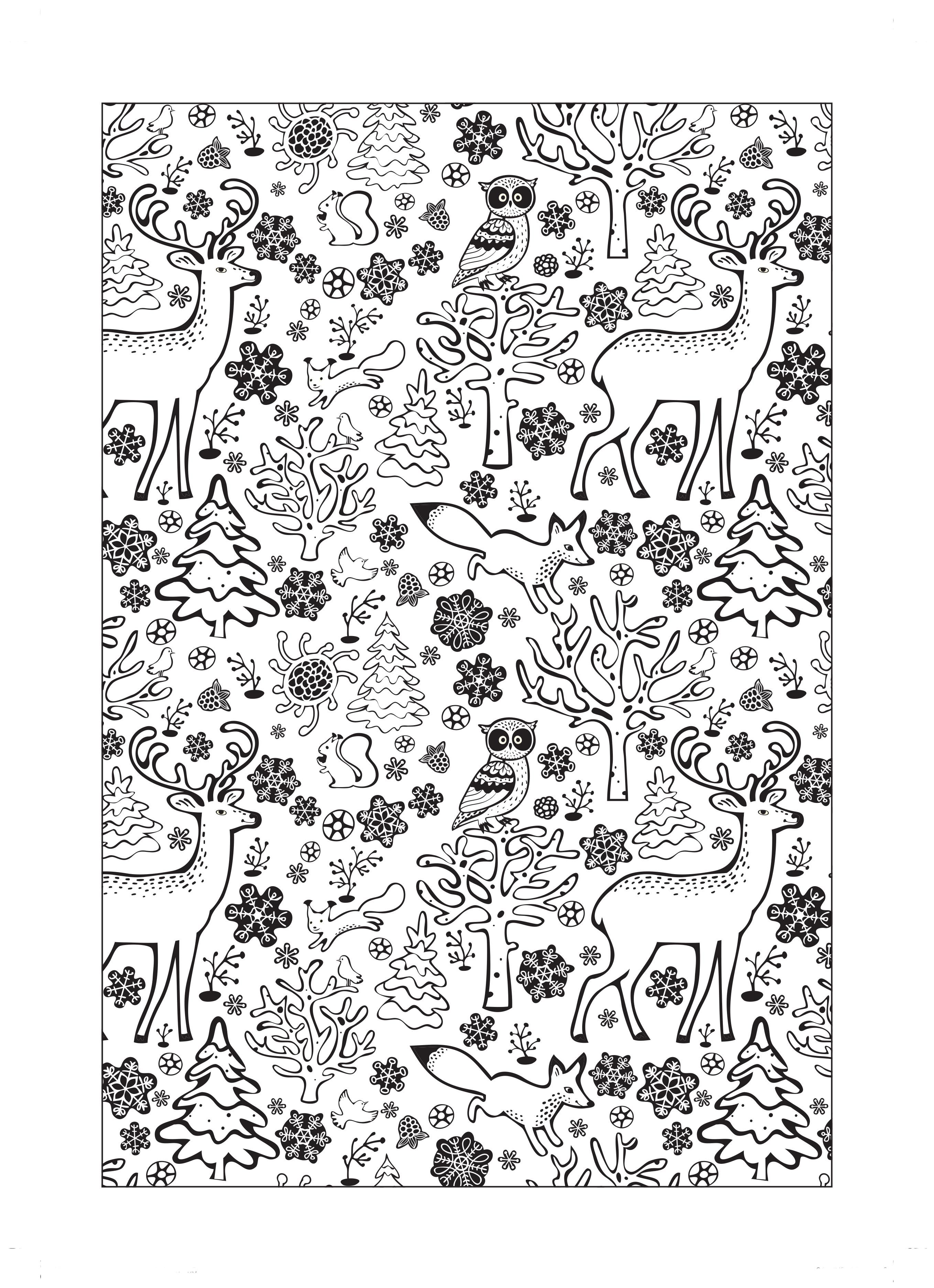 Walk in a winter wonderland with this gorgeous free colouring sheet
