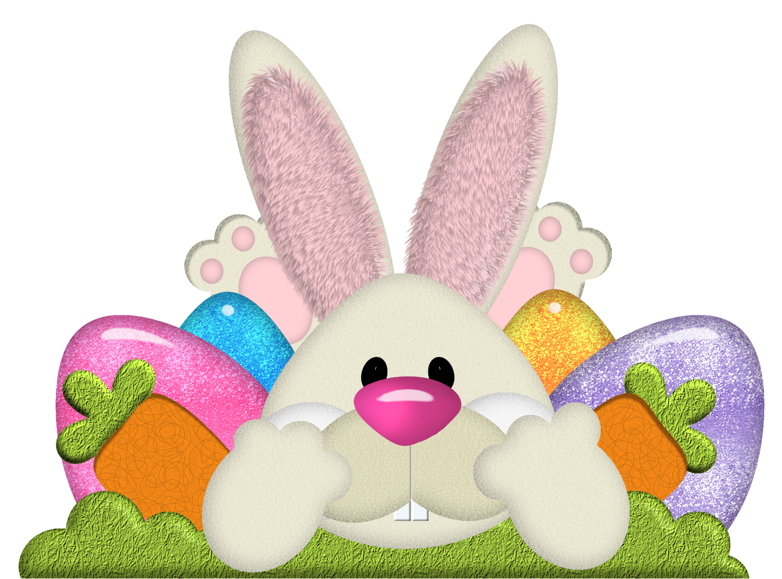 Easter Bunny with Eggs Transparent PNG Clipart | clipart (easter ... for Real Easter Bunny With Eggs  150ifm
