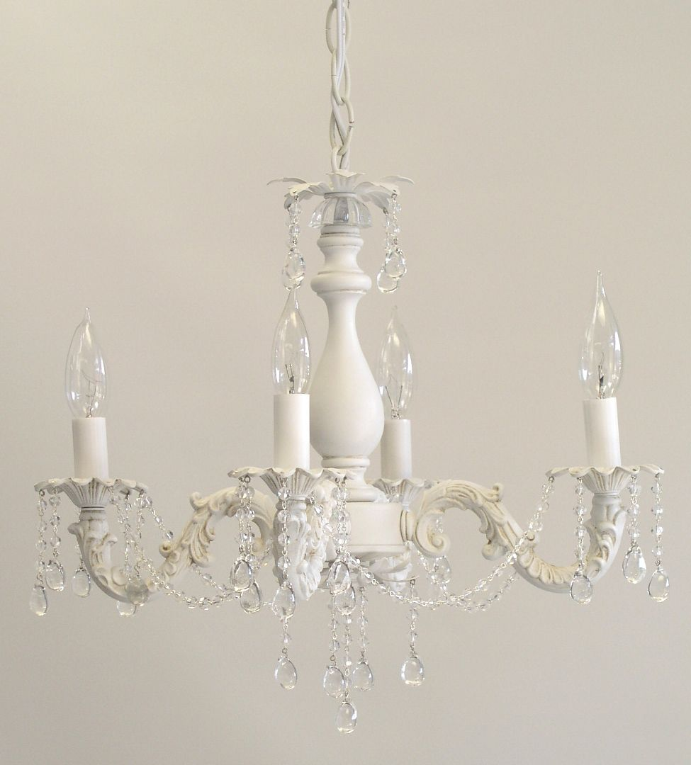 shabby chic lighting. Anna 4 Arm Chandelier Shabby Chic Lighting