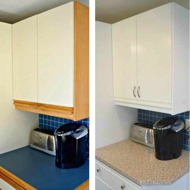 Refinishing Laminate Bathroom Cabinet Door: Tips For Updating 80's Kitchen Cabinets