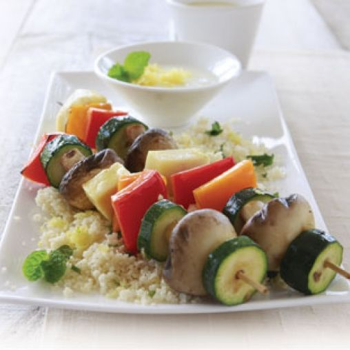 Barbecued haloumi and vegetable kebabs healthy food guide barbecued haloumi and vegetable kebabs healthy food guide forumfinder Images