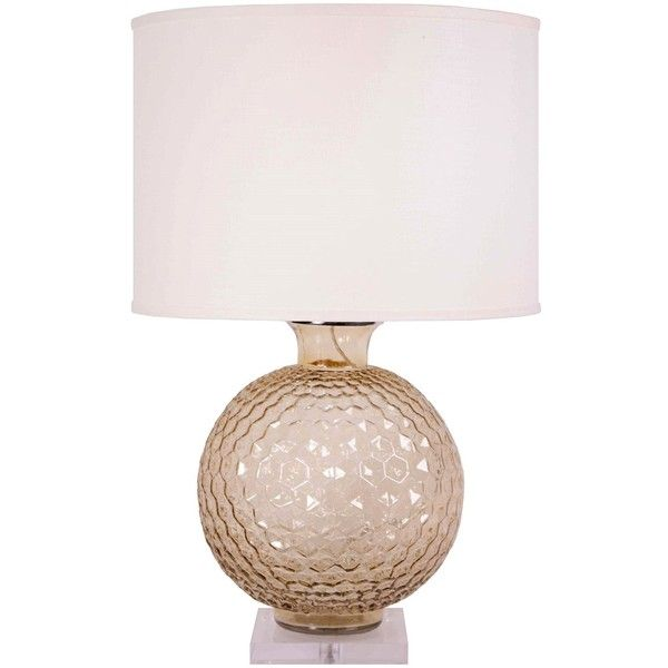 Jamie young clark transparent taupe glass table lamp lamp x shade x sold separately total height
