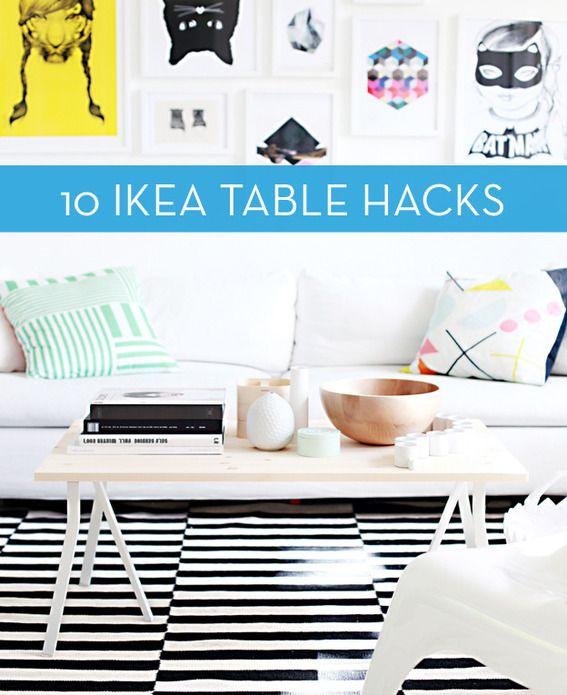 Roundup: 10 Clever IKEA Table Hacks   Ikea coffee table