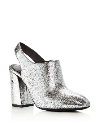54759101588 Michael Kors Collection Clancy Metallic Leather High Heel Booties ...