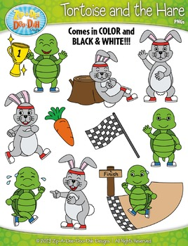 The Tortoise And The Hare Famous Fables Clipart Zip A Dee Doo Dah