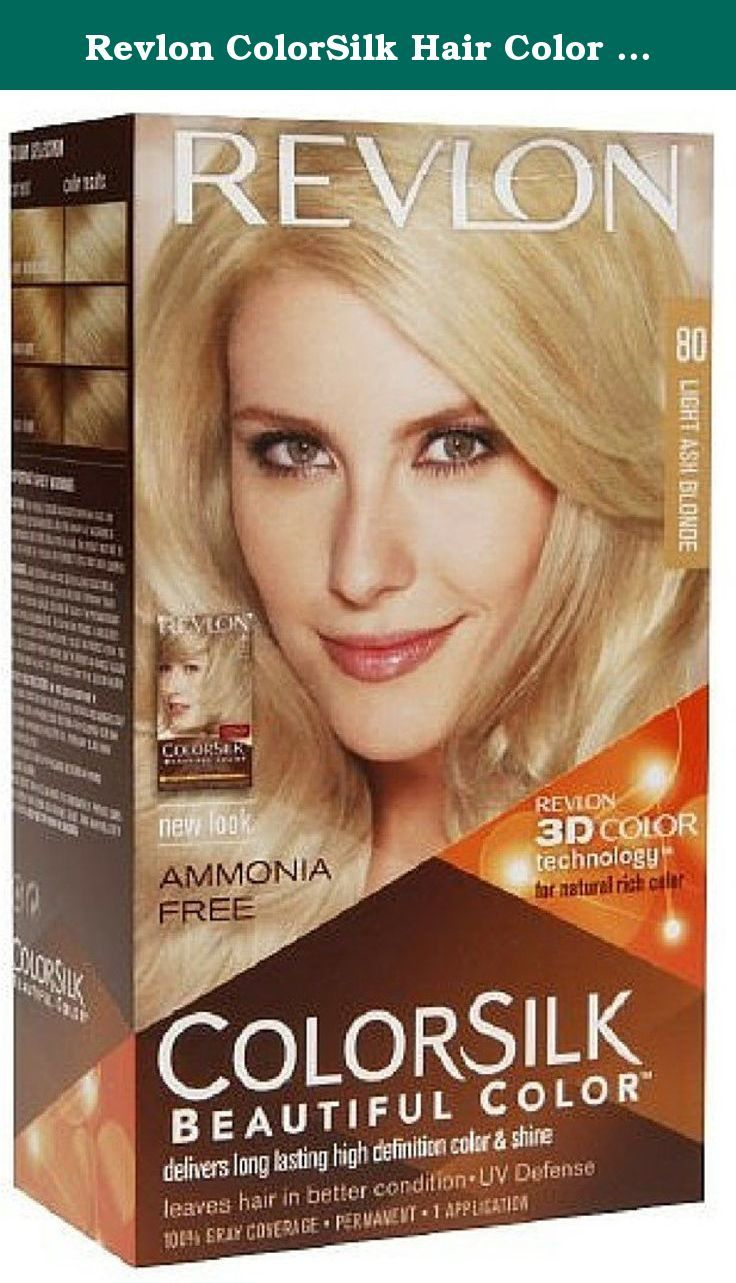 Revlon ColorSilk Hair Color 80 Light Ash Blonde 1 Each (Pack of 5 ...