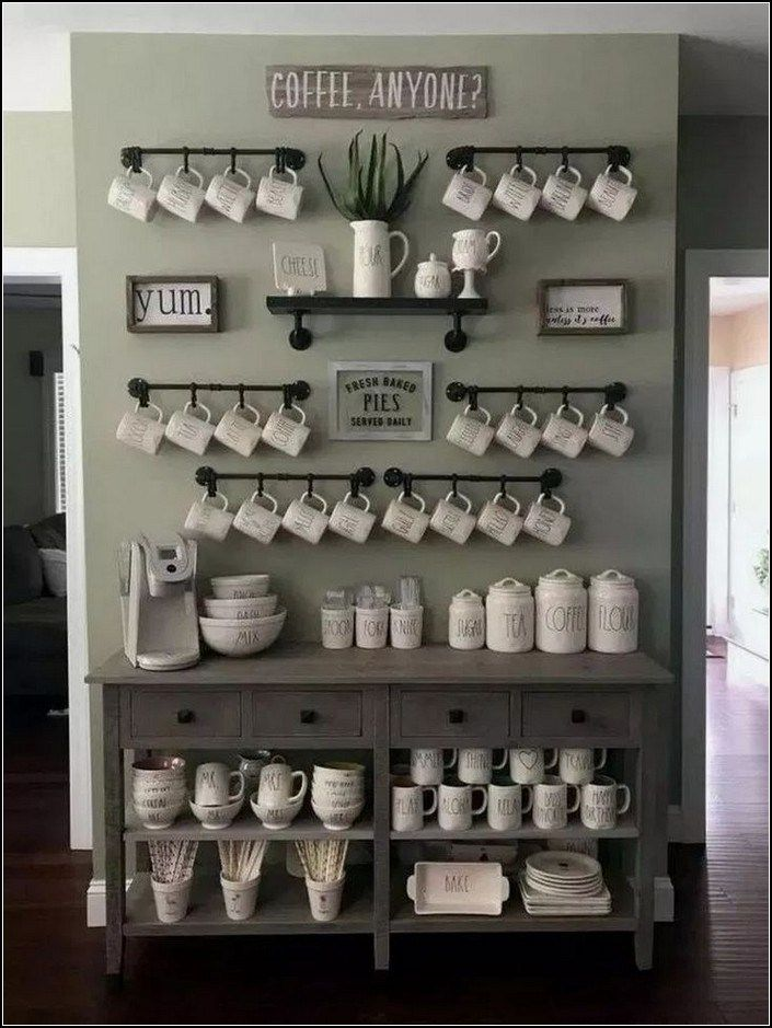 130 Best Home Coffee Bar Ideas For All Coffee Lovers 24 Mantulgan Me Coffee Bar Home Farmhouse Kitchen Design Bars For Home