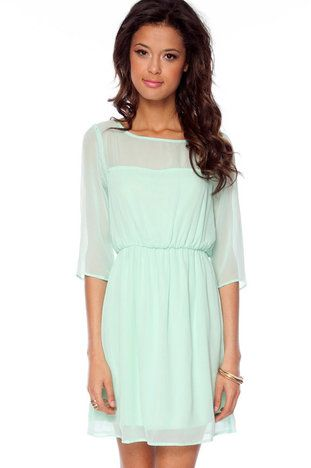 @Caitlin Collins   Kerry Sweetheart Dress in Mint $52 at www.tobi.com