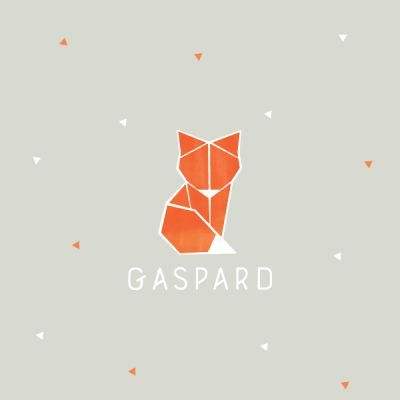 faire part naissance renard, origami, garçon, original, tendance