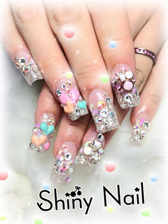 kawaii nails super brillosas ulta glitter - Nail Art - Kawaii Nail ...