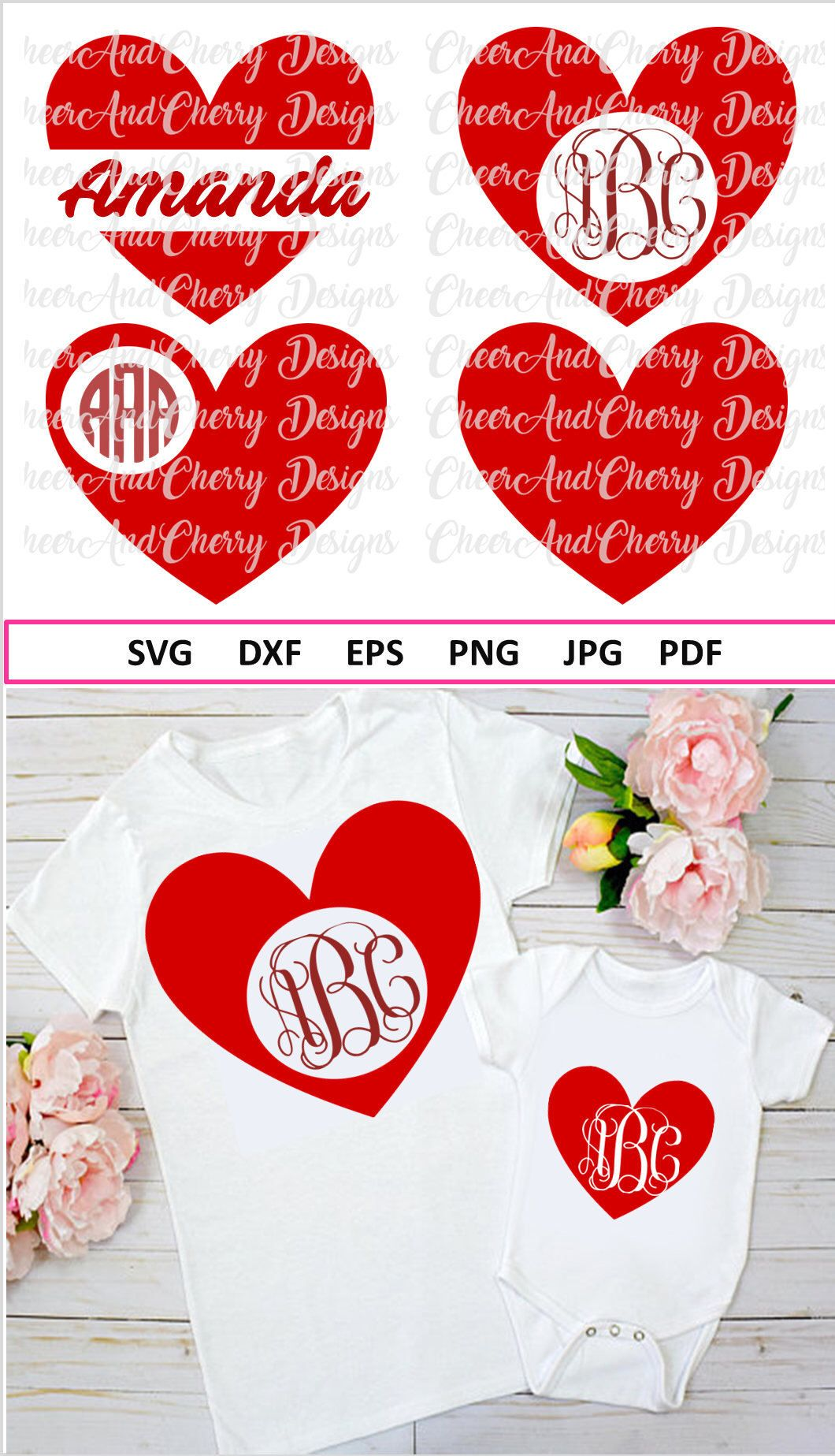 Valentine Monogram Svg For Valentines Svg Files For Cricut