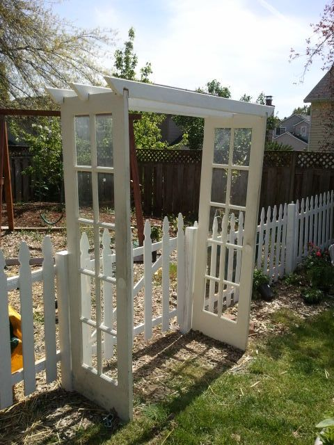 distracting debbie Salvage French Door Arbor : arbor doors - pezcame.com