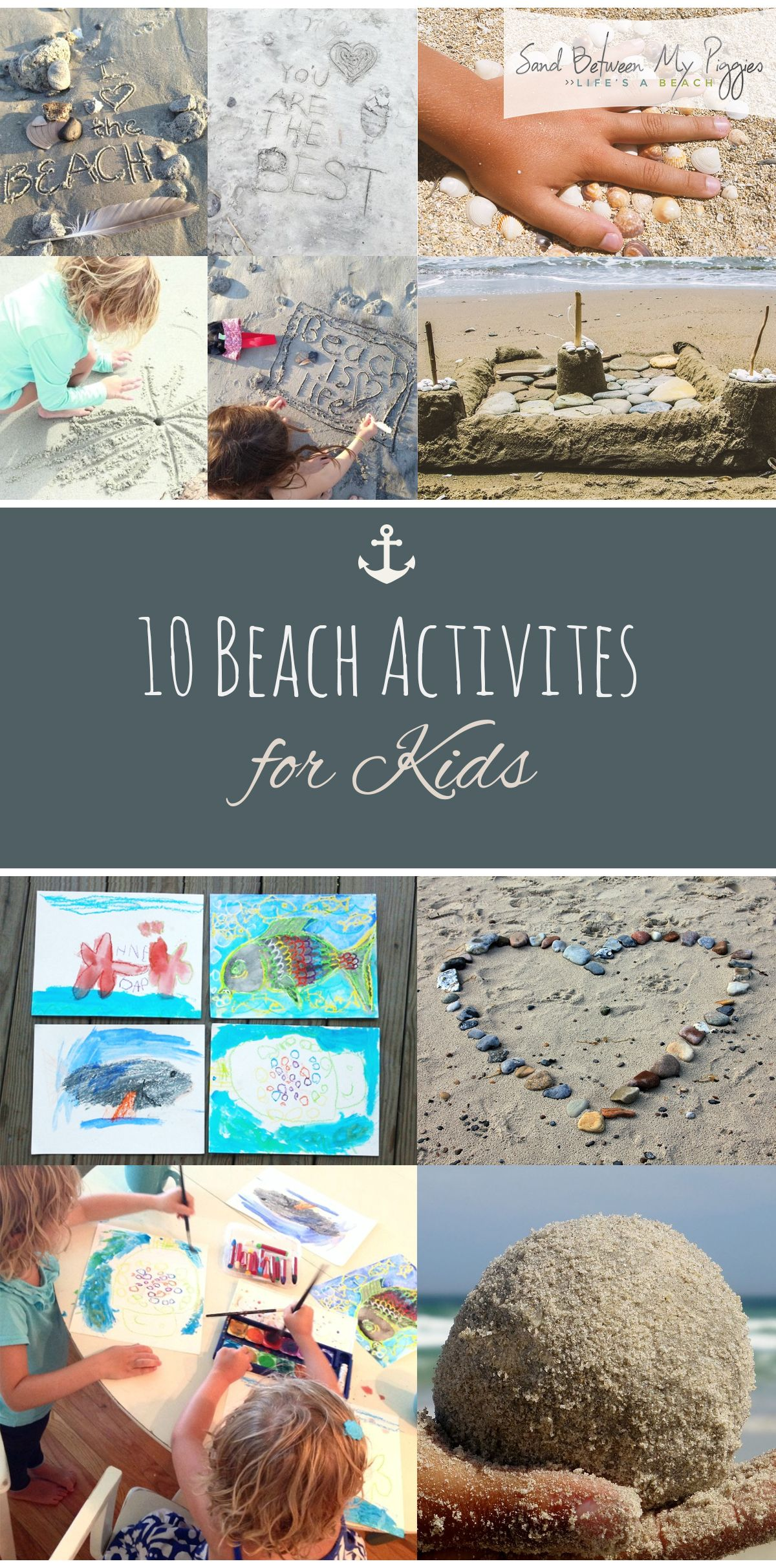 10 Beach Activites For Kids Pinterest Kids Beach Crafts Beach