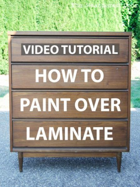 Video How To Paint Over Laminate And Plastic Laminate