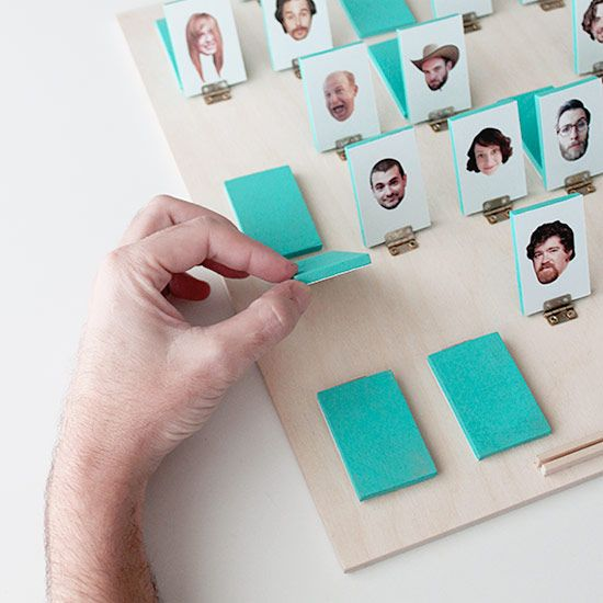 learn how to make your own personalized guess who board game!