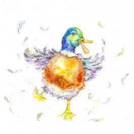 Crazy duck greeting card art cards fine art prints and watercolor gifts fine art prints m4hsunfo Images