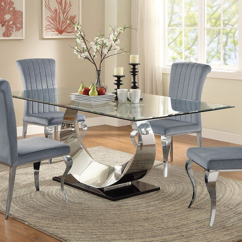 Manessier Dining Table In 2020 Glass Dining Room Table Dining