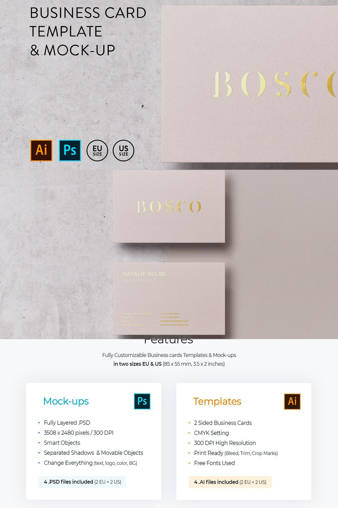 Business Card Template Mock Up Business Card Template Customizable Business Cards Templates Minimal Business Card
