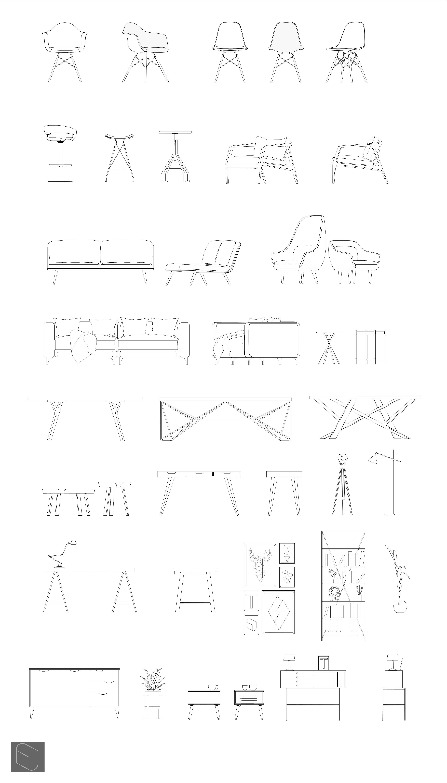 Dwg Furnitures Interior Architecture Design Interior Design