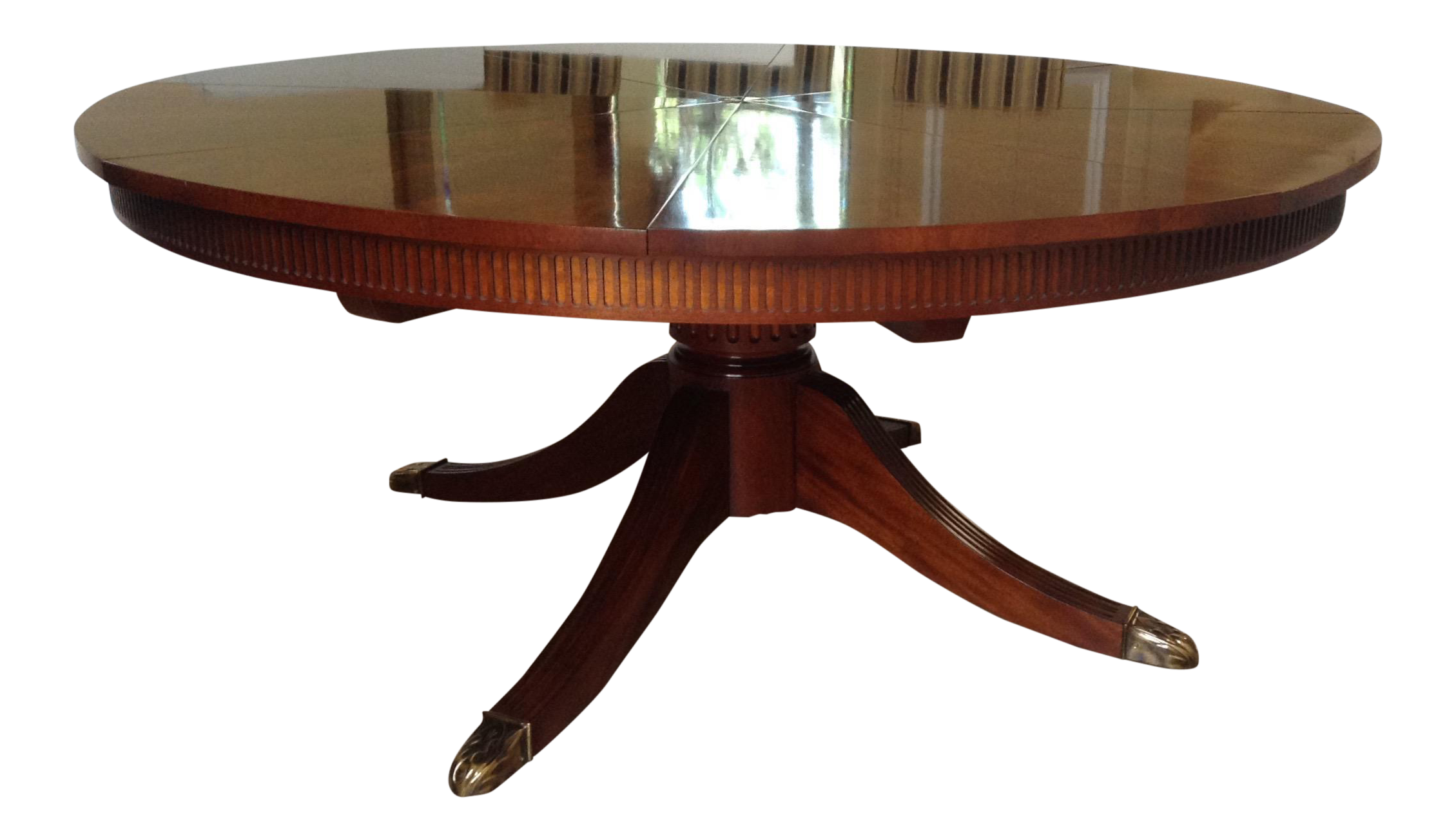 Stunning Baker Furniture Mahogany English Regency Style Capstan