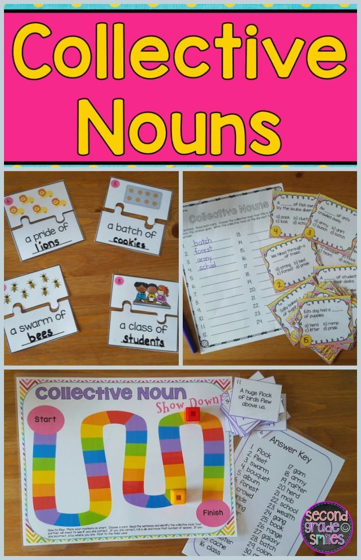 Collective Nouns (Game, Puzzles, Task Cards & More!) | Teaching ...