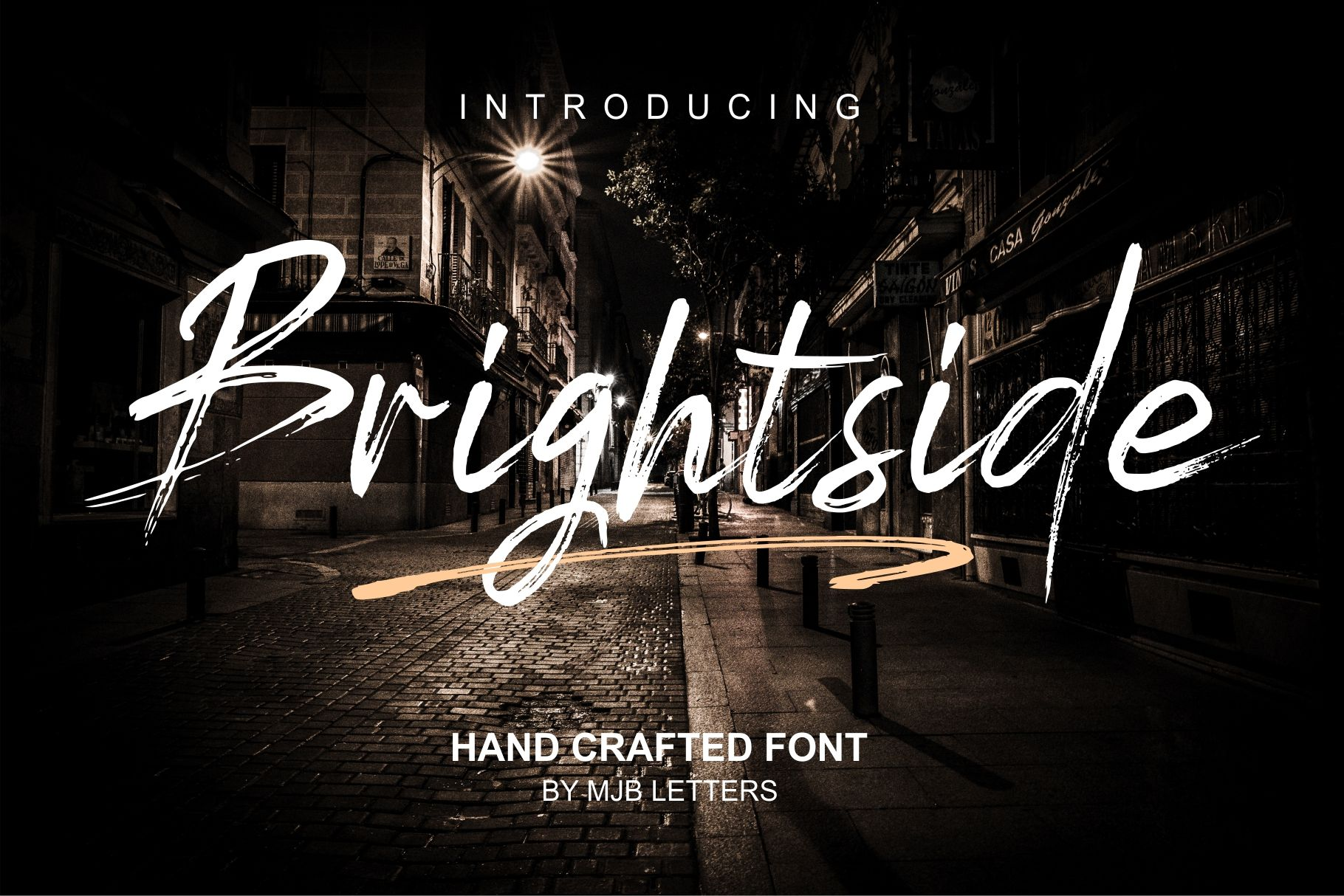 Brightside (Font) by MJB Letters Brush font, Lettering