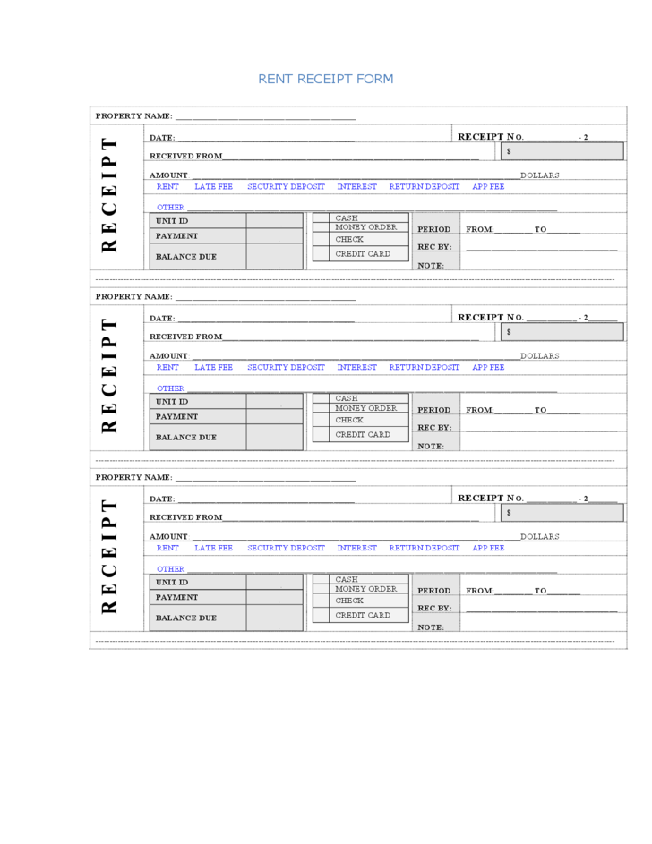 Rent Receipt Format Receipt template, Templates, Words