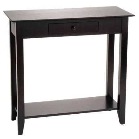 American Heritage Hall Table Black Convenience Concepts