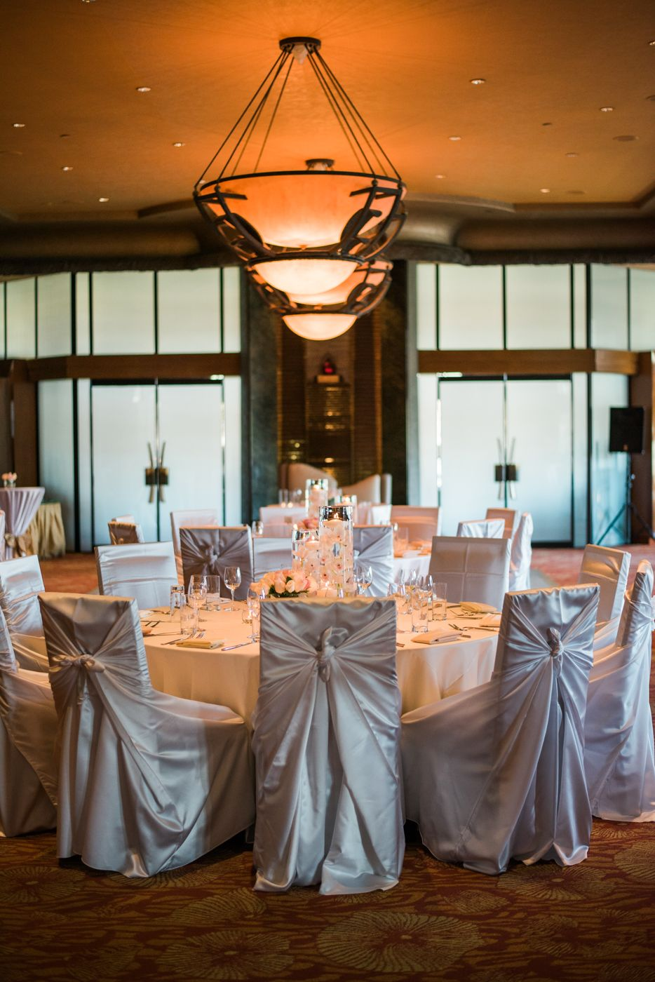 The Main Dining Room Set Up For A Wedding Reception At Cili Restaurant Las Vegas