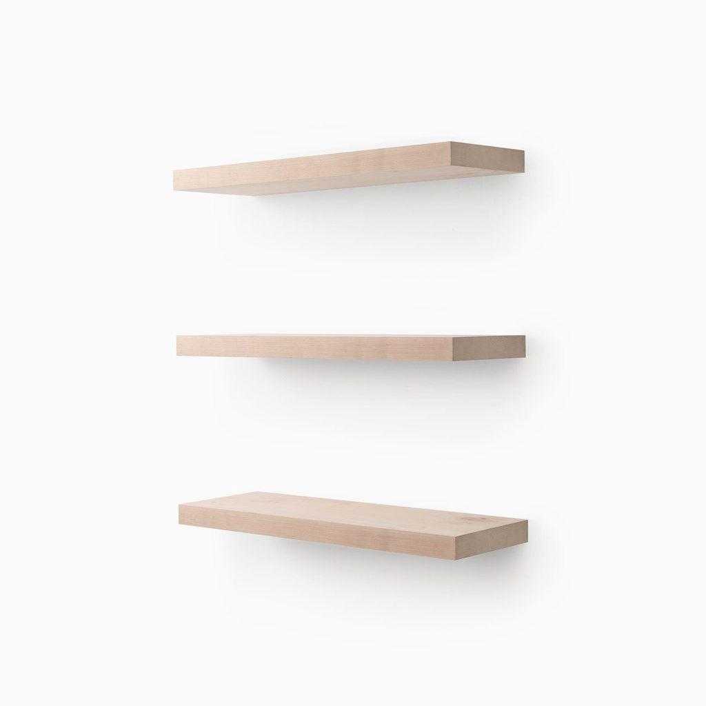 aksel raw unfinished alder floating shelf system in 2019 shelves rh pinterest com