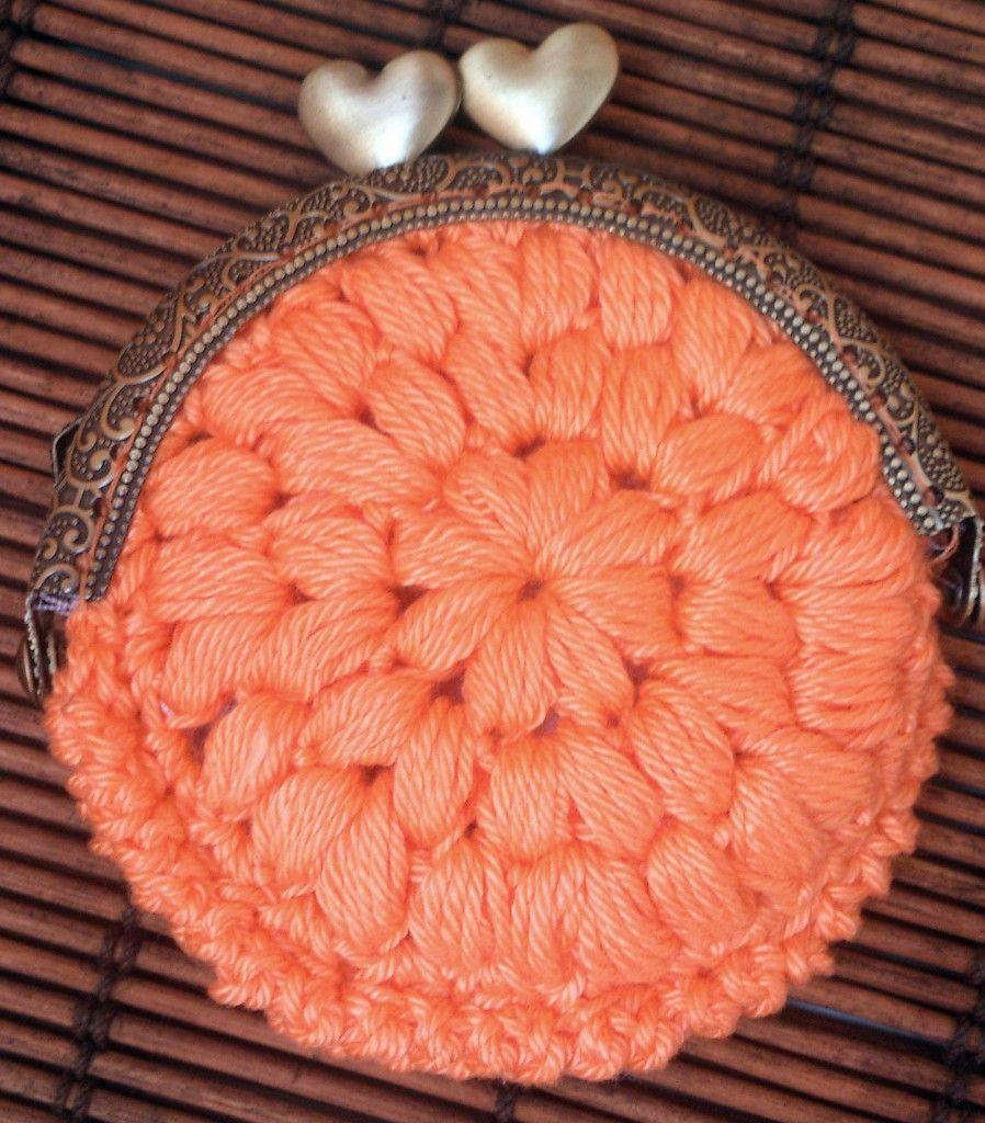 Monedero redondo con boquilla a ganchillo crochet - Patrones monederos ganchillo ...