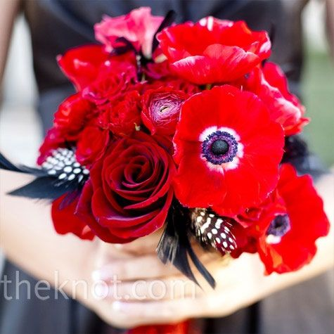 Hollywood Red Bouquet Red Wedding Flowers Red Bridesmaid Bouquets Red Bouquet