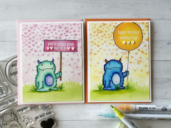 Simon Says Stamp STAMPtember Concord 9th Monster Hugs Limited Edition Exclusive Set