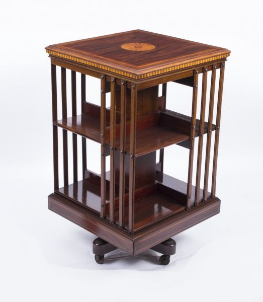 a beautiful antique edwardian revolving bookcase from maple co rh pinterest com
