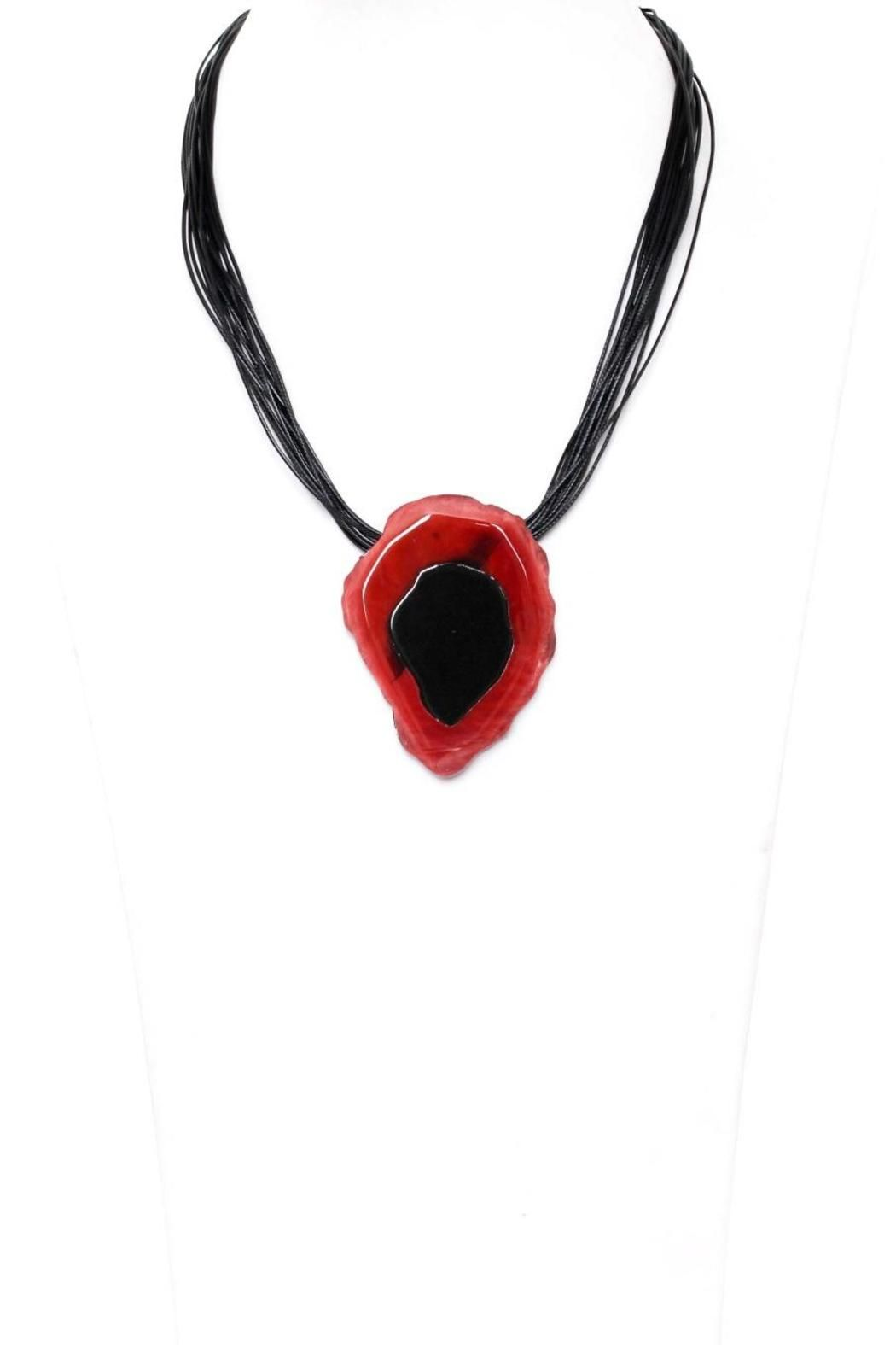 Necklace with red pendant great addition to any outfit