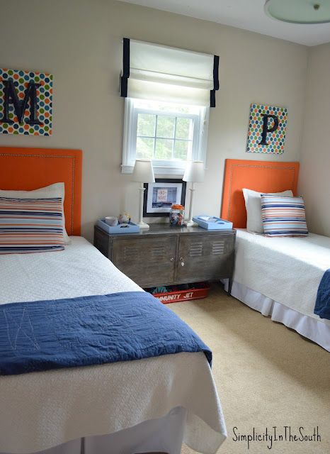 Shared Brother S Bedroom By Simplicity In The South Shared Boys Rooms Boys Room Blue