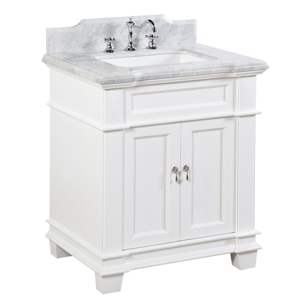 elizabeth 30 inch vanity carrara white crafting and crocheting rh pinterest com