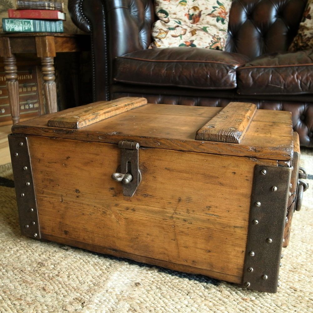 vintage military chest industrial storage trunk wwi ammo chest rh pinterest com