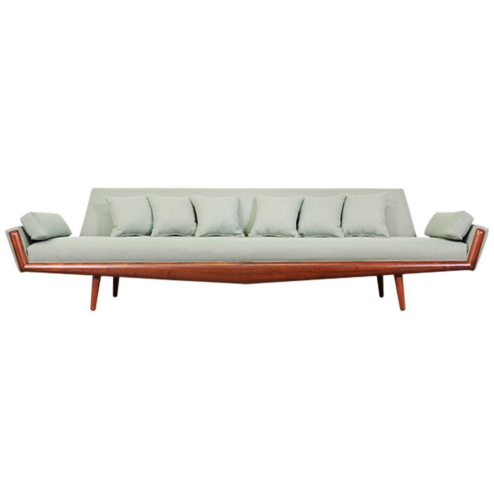 adrian pearsall sofa for craft associates for sale midcentury rh pinterest com