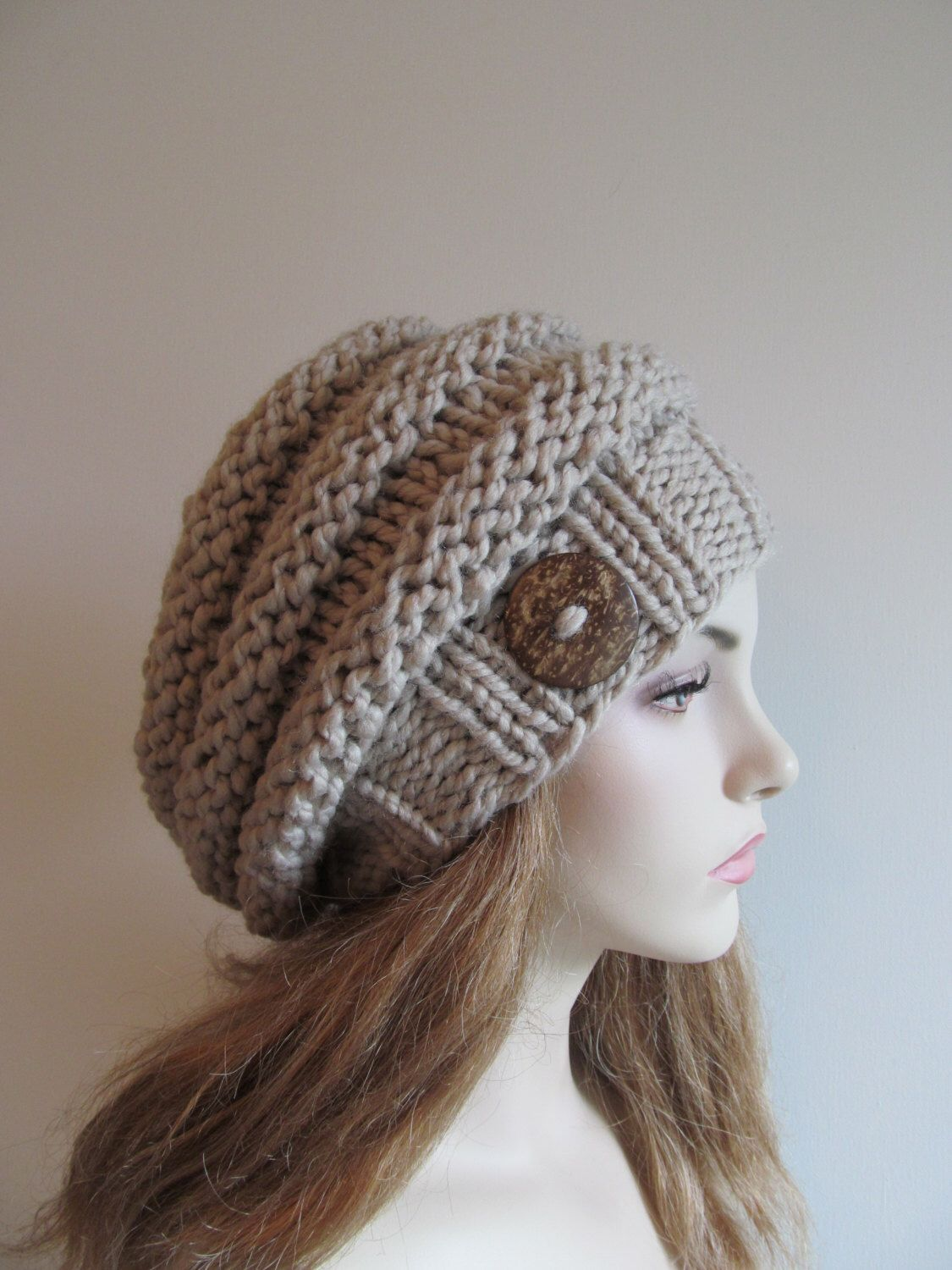 PDF Knitting Pattern Instant Download Bulky Slouchy Beanies Berets ...