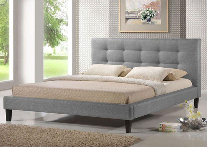 Baxton Studio Quincy Linen Platform Bed Queen