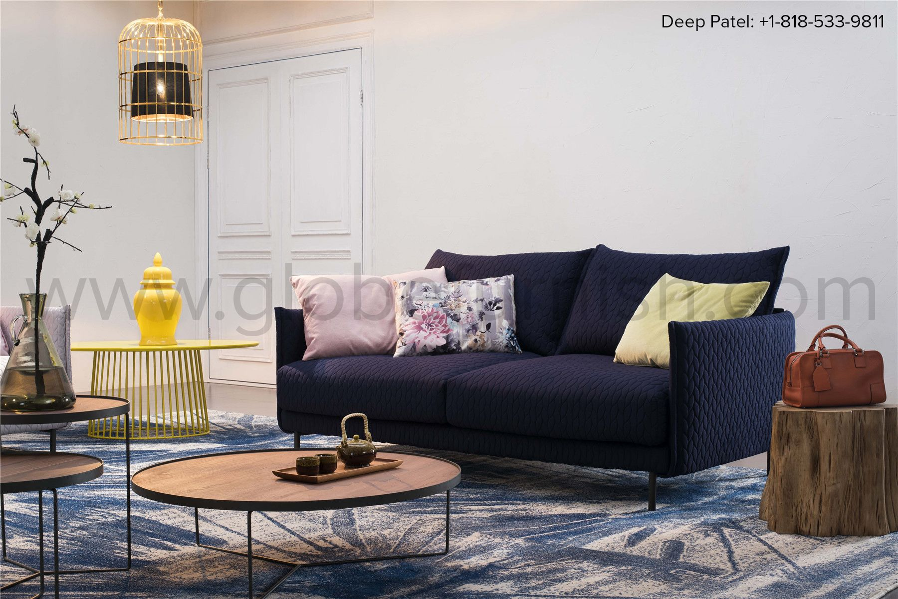 Decorate Your Home With This Intricate Sofa In Classic Royal Blue