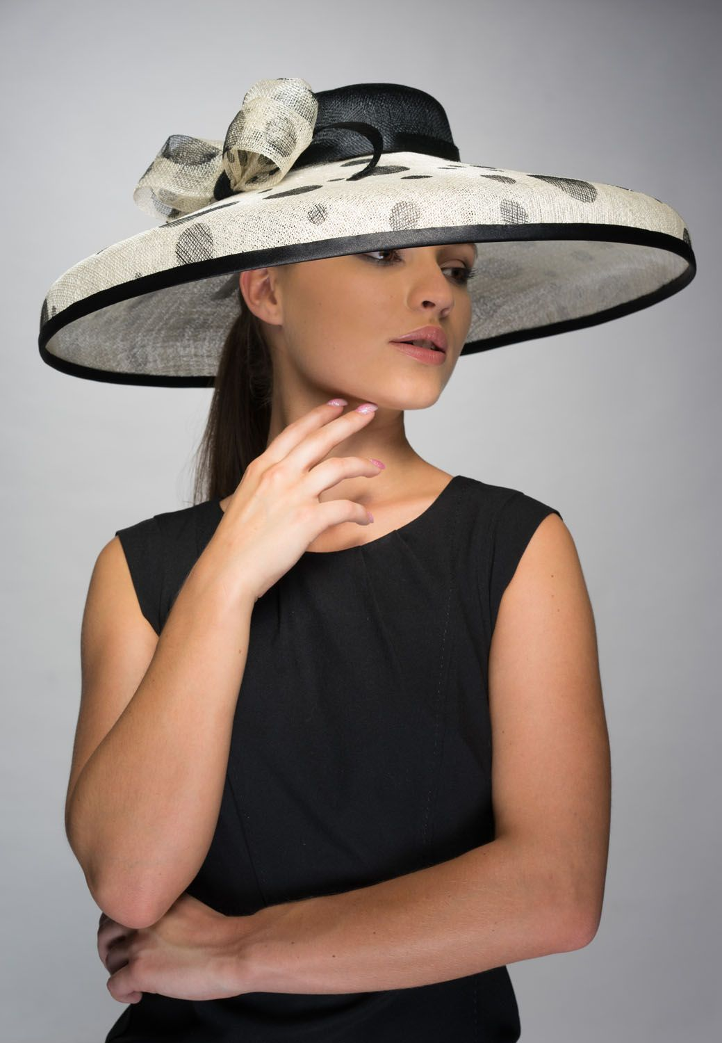 73fa091bb57ef 'Audrey Hepburn' style large hat. Perfect for weddings or a day at Royal  Ascot. Adrienne Henry Millinery. '