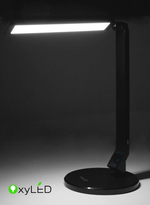 oxyled smart l100 eye care led desk lamp 5 dimmable level 5v 1 1a rh pinterest es