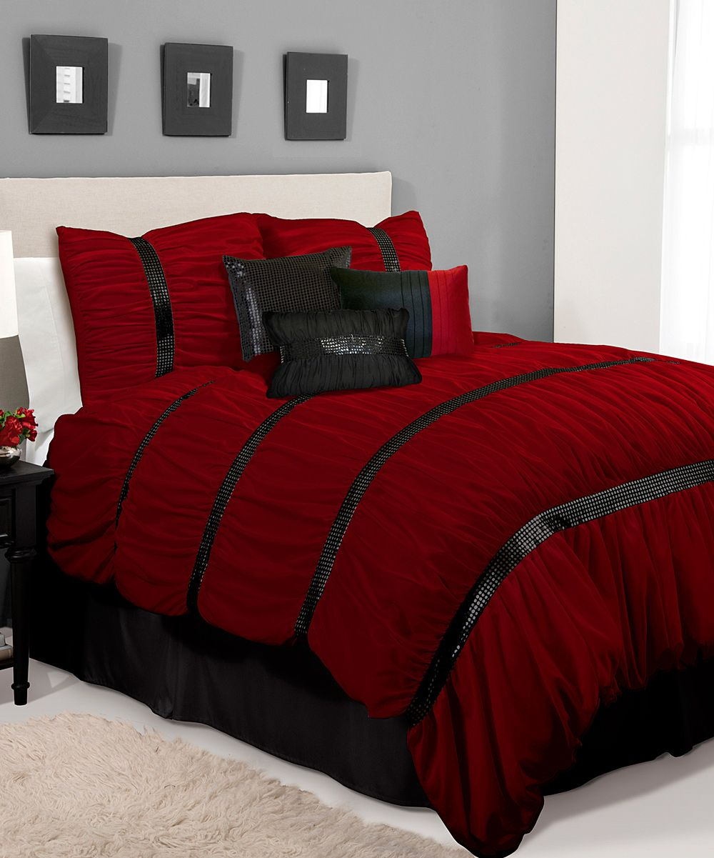 Red And Black Room Decor Ideas: Red And Black Bedroom Comforter