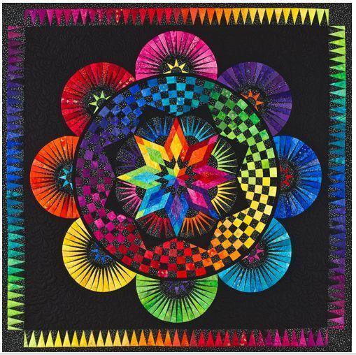circle of life paper pieced quilt pattern be colourful jacqueline de rh pinterest com