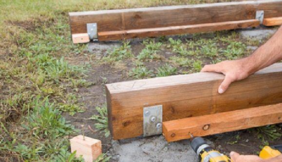 Gartenhaus selber bauen Das Fundament Fundament
