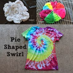 Tulip Tie Dye T-shirt Party!   Classic pie shaped swirl pattern!  Tips and tricks for dying!  Haha
