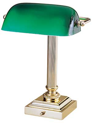 Emeralite 13 1 4 Inch Bankers Desk Lamp With Green Glass Shade Desk Lamp Modern Lamp Green Lamp