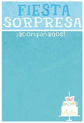 Fiesta Sorpresa Printable Invitation Customize Add Text